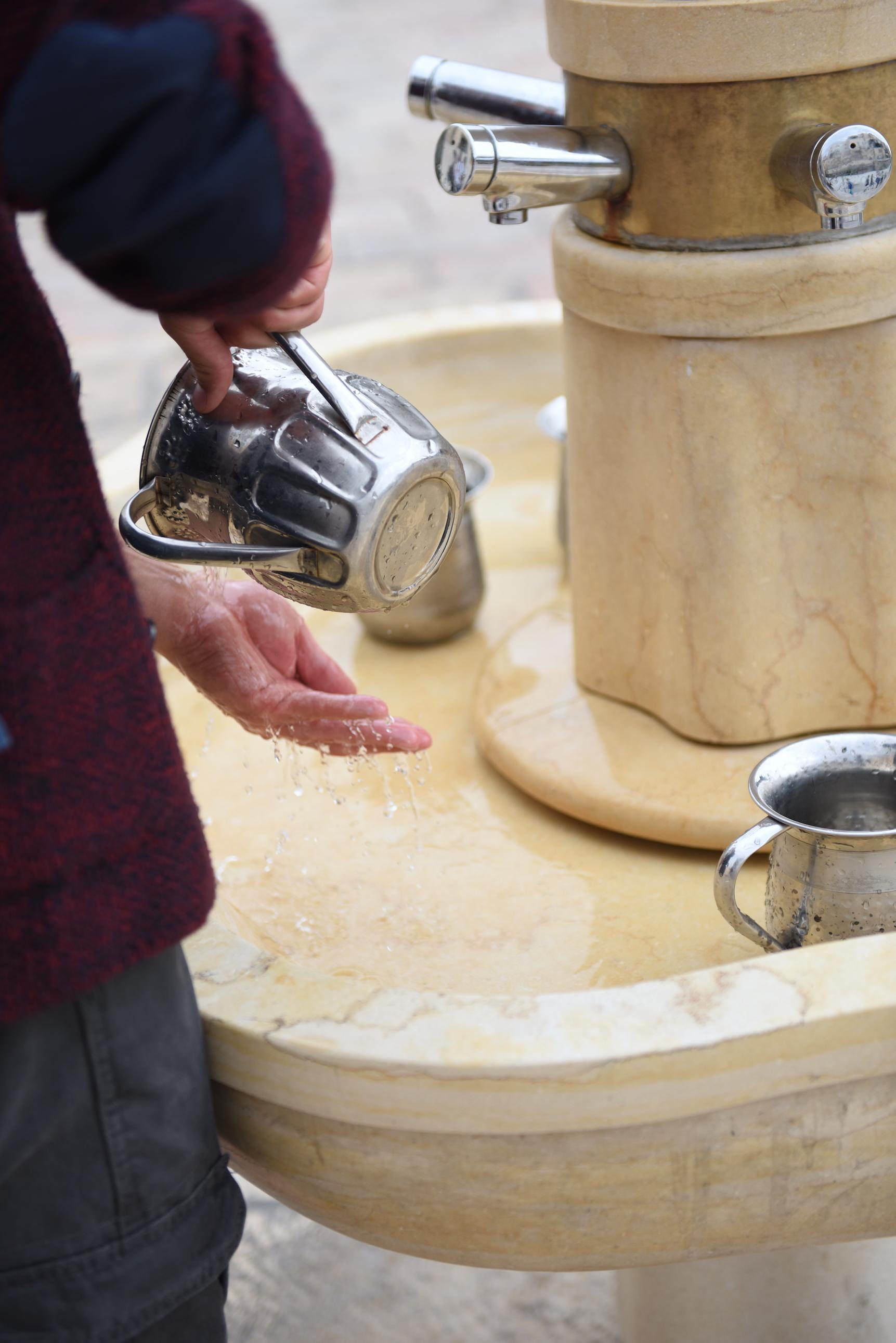 Obmywanie dłoni