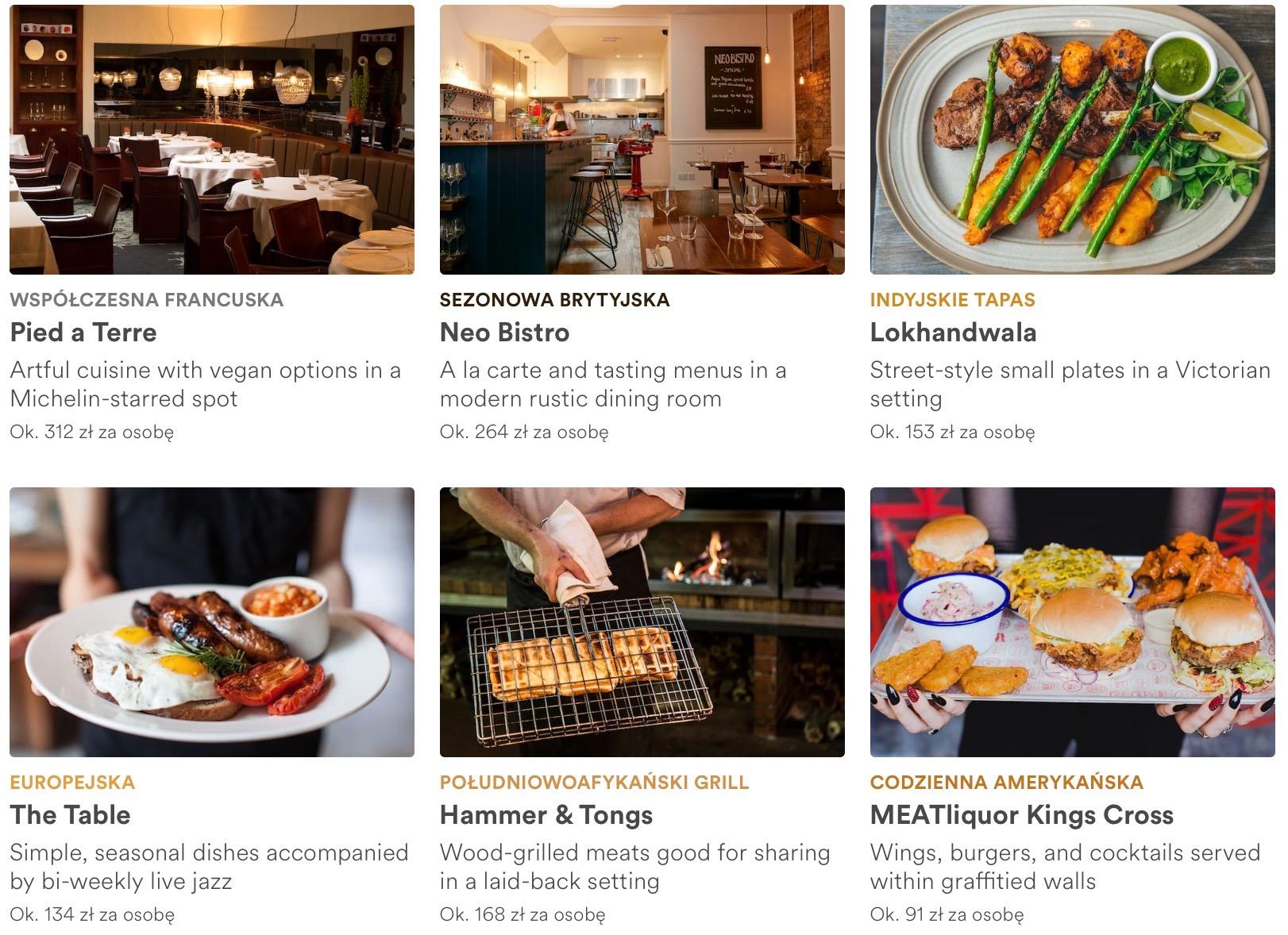 airbnb restauracje