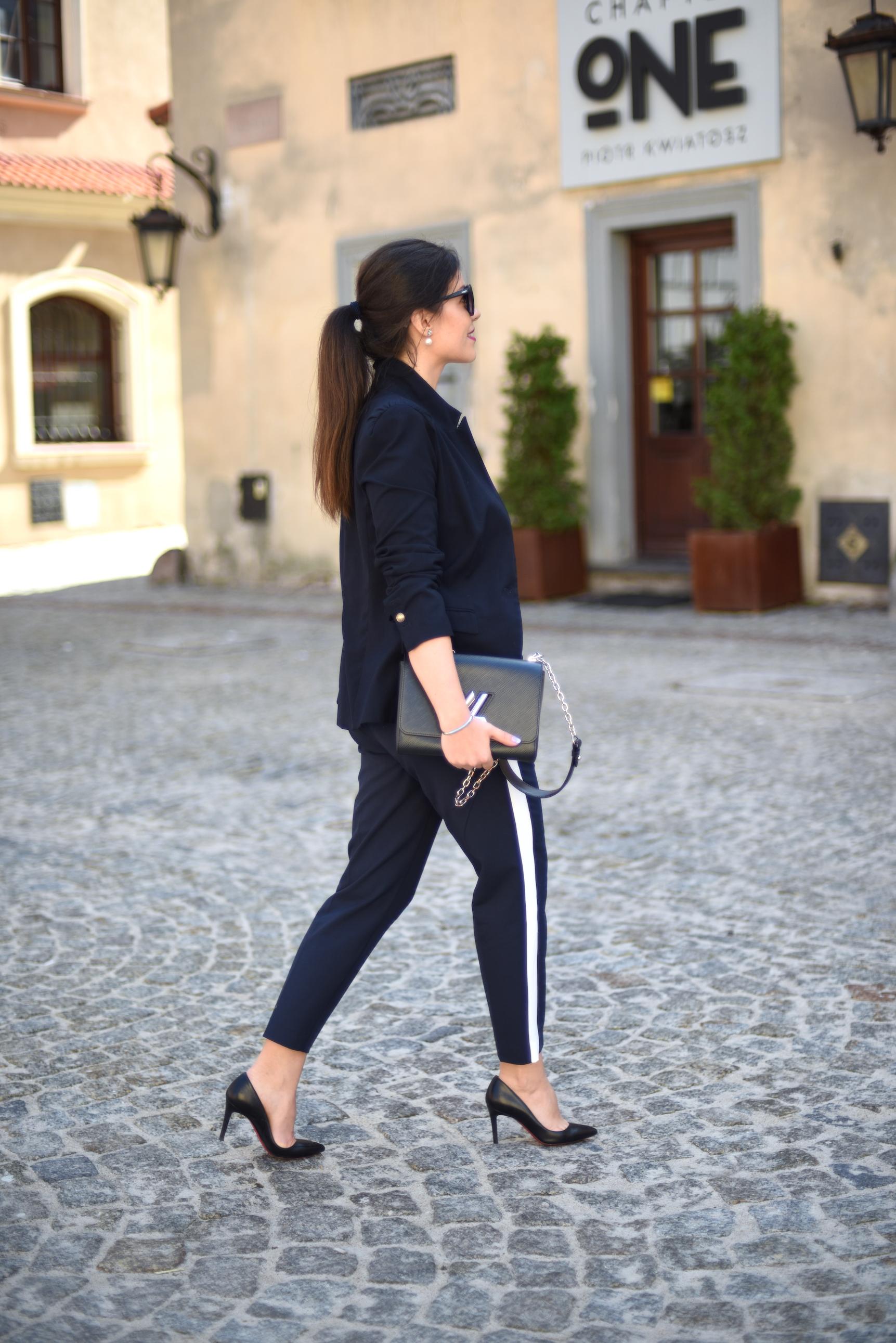 fashionelka spodnie z lampasami
