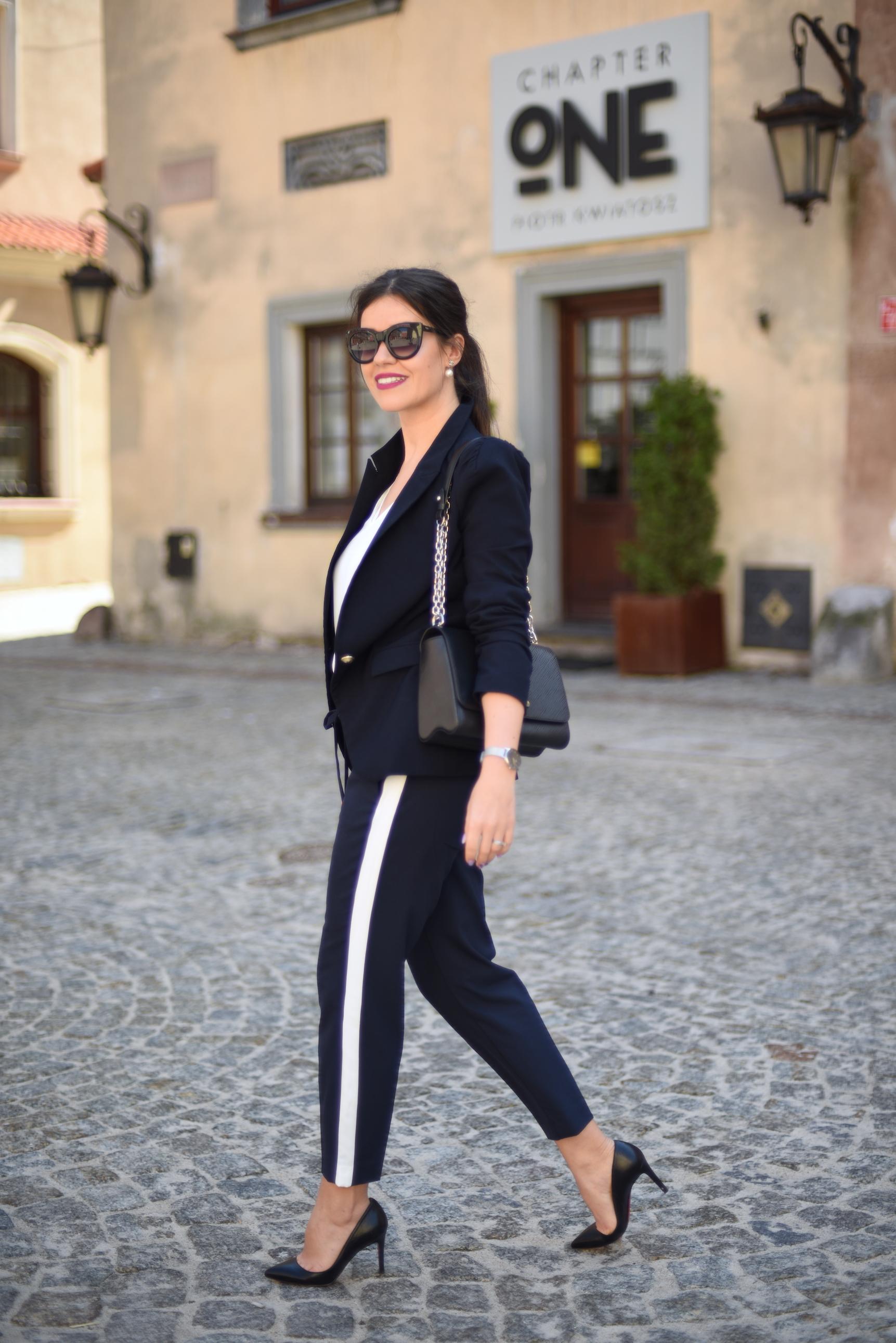 lampasy spodnie stylizacja