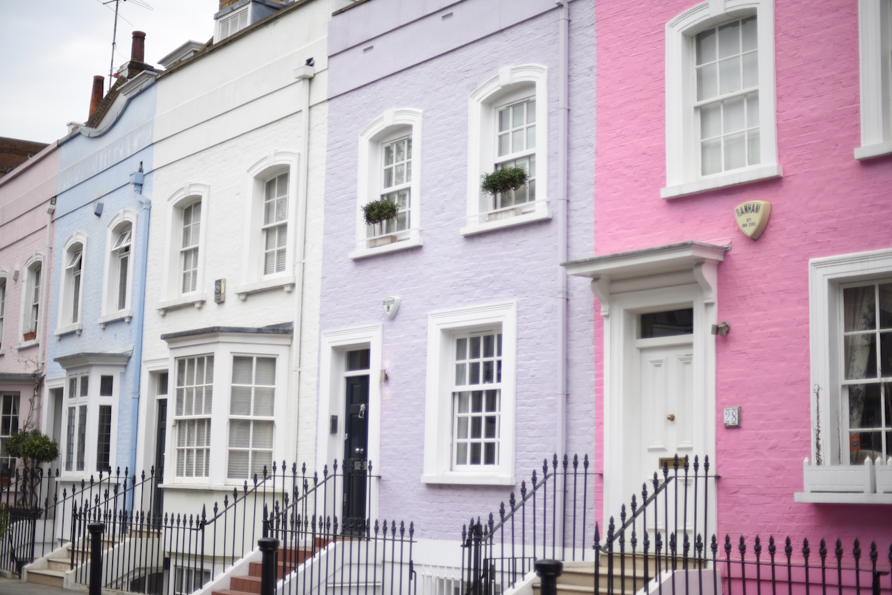 pastelowe domy londyn